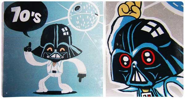 Darth Vader dans La fièvre du samedi soir.